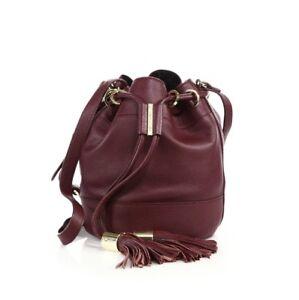 Image Is Loading See By Chloe Vicki Leather Plum Bucket Bag
