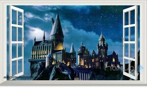 Image Is Loading 60X100cm Harry Potter Hogwarts Castle 3D Wall Decal