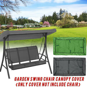 3-Seater-Garden-Swing-Chair-Seat-Canopy-Cover-Waterproof-Bench-Patio-Outdoor
