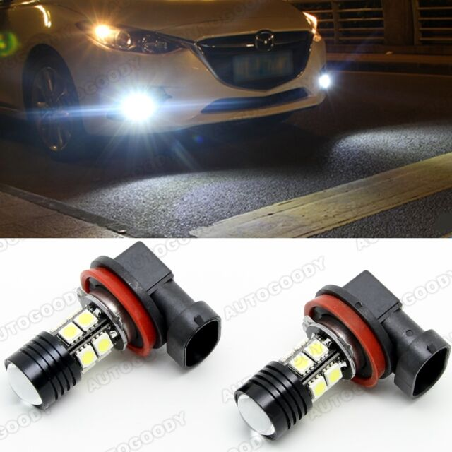 Super Bright Xenon White H11 H8 High Power CREE w/ 10-SMD LED Fog Lights