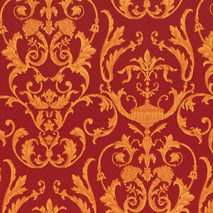 AgréAble 95505-ornamenta Damassé Or Rouge Galerie Papier Peint-afficher Le Titre D'origine Moins Cher