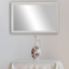 thumbnail 1 - Framed Wall Mirror - Black, White, Espresso/Brown, Nickel
