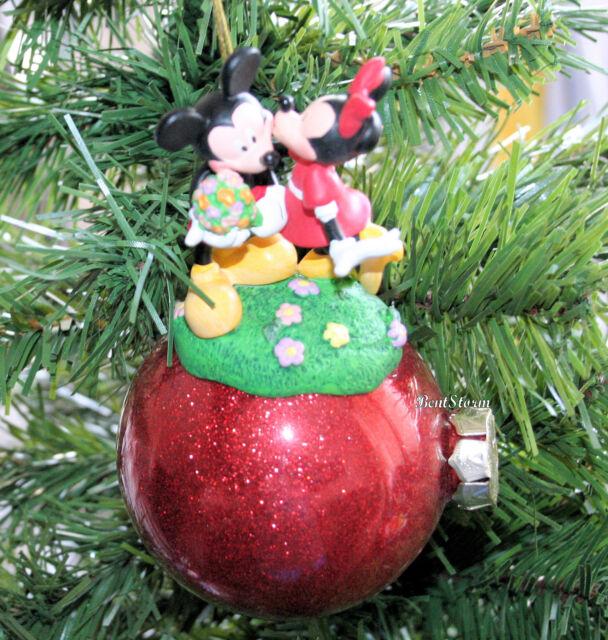HALLMARK DISNEY MINNIE MOUSE 85TH ANNIVERSARY BLOWN GLASS CHRISTMAS ORNAMENT NEW