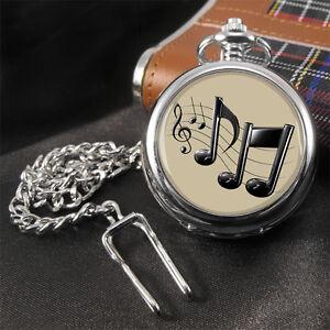 Musiknote-Musiker-Taschenuhr