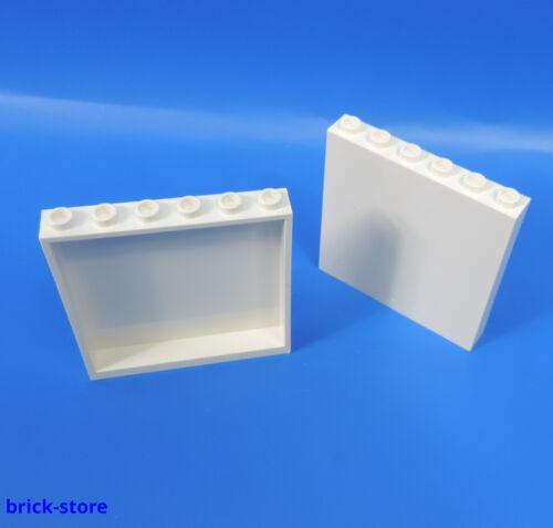 Wand LEGO®  Nr 2 Stück 1x6x5 Panele weiß 4504229 Fenster Säule