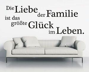 X378-WANDTATTOO-Spruch-Die-Liebe-der-Familie-Glueck-Leben-Wandsticker-Aufkleber