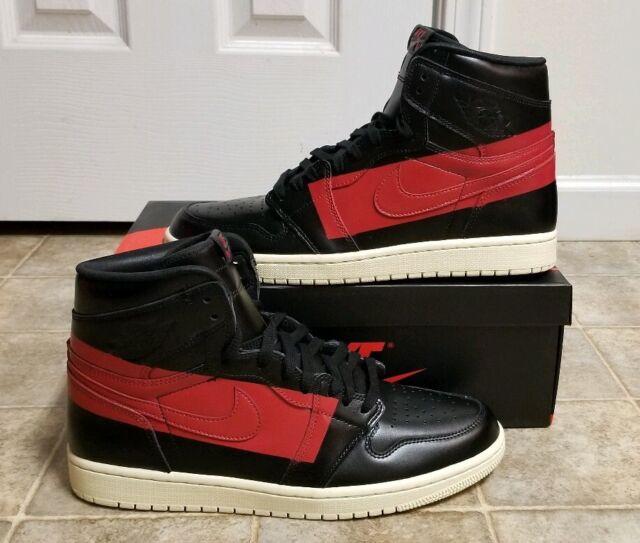 newest 4876f 4c3cf Nike Air Jordan 1 High OG Defiant Couture Black Red Bq6682-006 Size 11