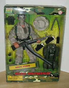 """World Peacekeepers 12/"""" Action Figure Power Team Elite Military Soldiers NEW"""
