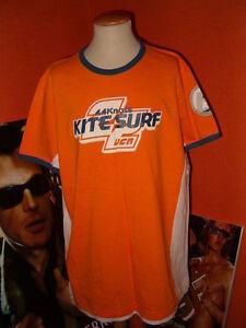 """@ BENETTON @ T-Shirt @ """"KITE SURF"""" @ XL/152 @ orange @"""