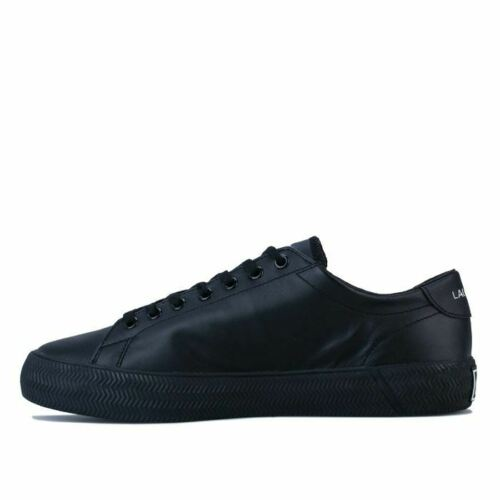 Men/'s Lacoste Gripshot Lace up Low Cut Trainers in Black