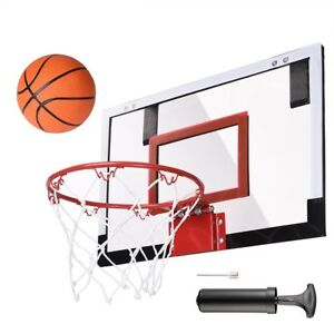Mini-Basketball-Hoop-System-Kids-Goal-Over-The-Door-Indoor-Sports-w-Ball-Pump