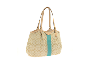 1228f8e49d Image is loading Coach-F28503-Signature-Stripe-12CM-Devin-Shoulder-Tote-