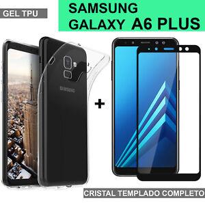 SAMSUNG-GALAXY-A6-PLUS-protector-pantalla-cristal-completo-vidrio-templado-funda