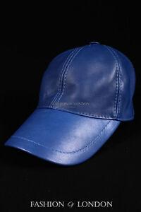 Yellow /& White Peak BASEBALL CAP Real Lambskin 100/% Leather Hip-Hop Men/'s Ladies