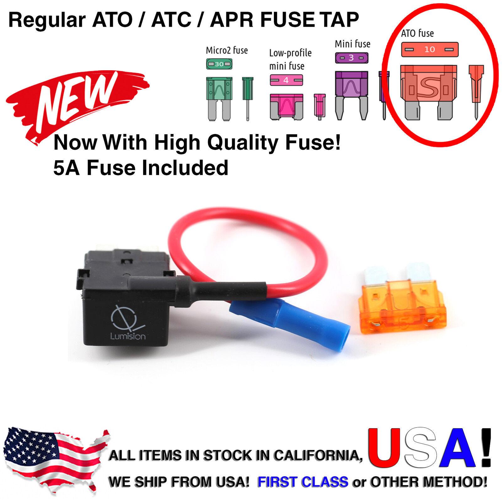 Fuse Tap Regular Ato Atc Apr W 5a Add A Circuit Dash Cam Radar Diy Atm Addafuse Addacircuit 4 Fuses For Mini Blade Style Norton Secured Powered By Verisign