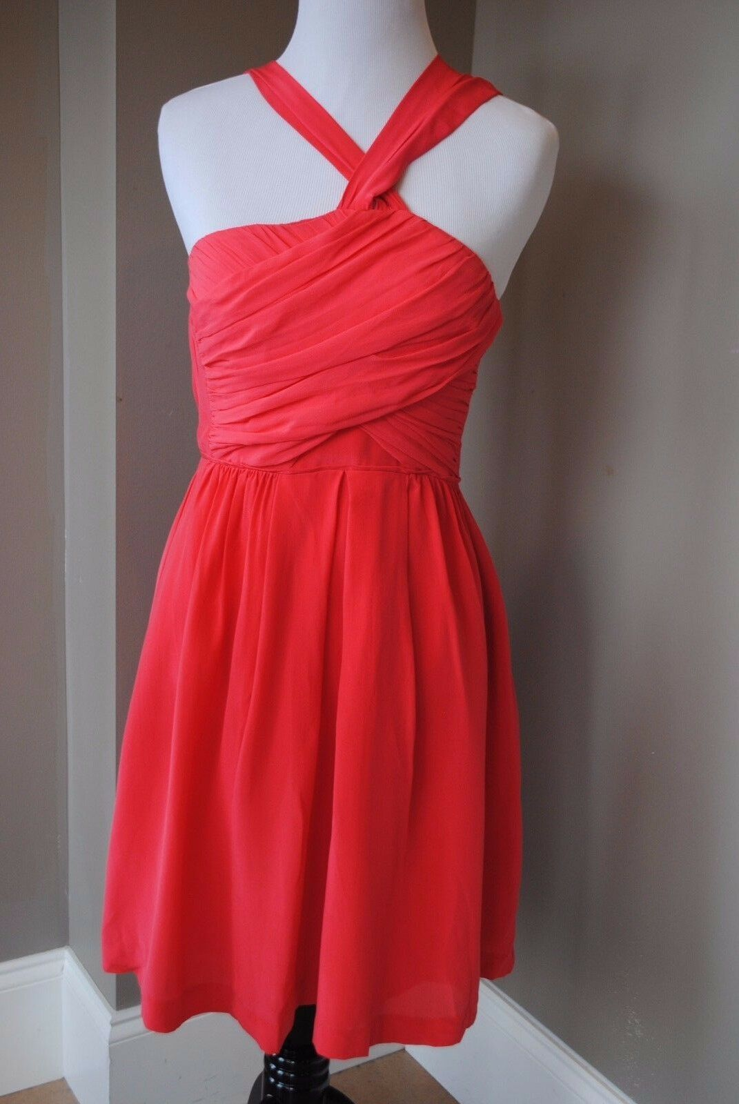 NWT Madewell Twilight Twirl Dress in Vivid Poppy rot 2 XS Extra Small 67160