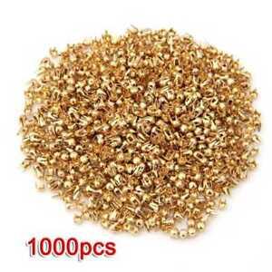1000-Gold-Tone-Round-Dome-Rivet-Spike-Studs-Spots-DIY-Rock-Punk-2-5mm-SS