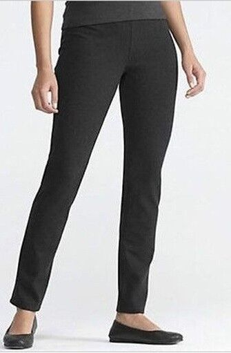 Eileen Fisher Charcoal Slim Bootcut Melanged Viscose Stretch Ponte Pants 24W