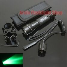 UltraFire 501B Tactical CREE Green light LED 1Mode Flashlight + Mount Holster