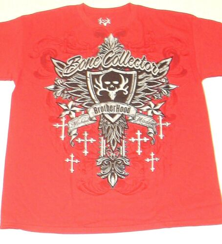 Bone Collector Red Brotherhood Shield Hunting  T-Shirt  Large 2XL 3XL  box I