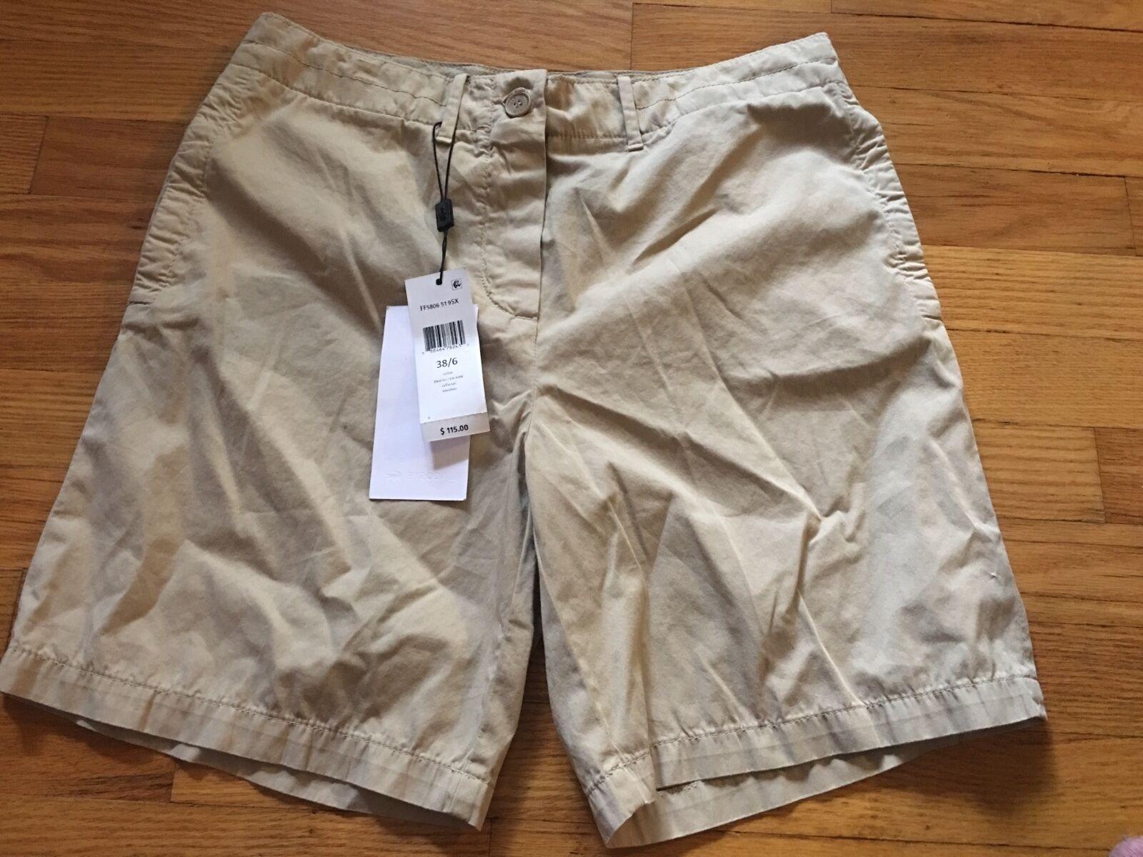 115 Lacoste Women's Khaki 100% Cotton Bermuda Walking Shorts 38 (6)