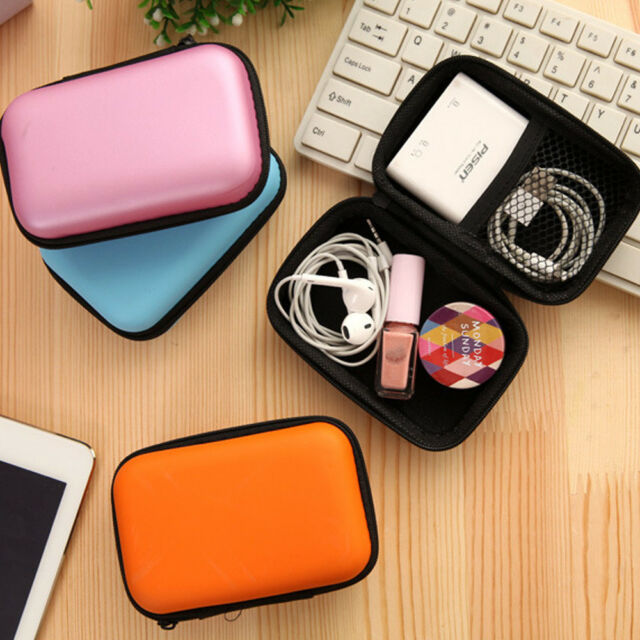 Portable Travel Case Hard Case Cord Wire Organizer Bag for Earbud and Accessorie