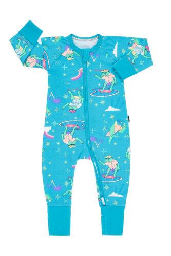 Bonds Baby Wondersuit Zippy Printed Floral Long Sleeve Boy Girl Pyjamas Sleep