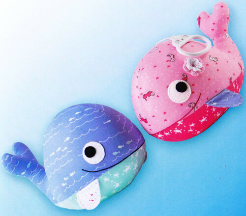 PATTERN Whale Song cute softie toy whale PATTERN Melly /& Me