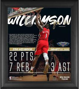 """Zion Williamson New Orleans Pelicans Framed 15"""" x 17"""" NBA Debut Collage"""