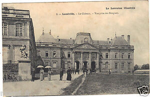54-cpa-LUNEVILLE-Le-chateau-Vue-prise-des-bosquets