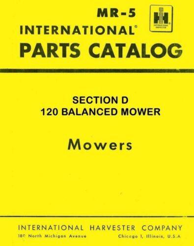 International Harvester Farmall 120 Balanced Mower Parts Catalog Manual IH