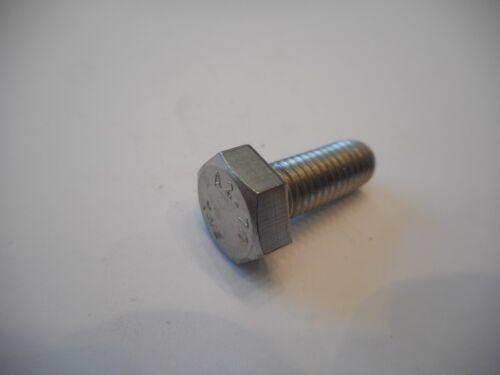 10 Stück M6  Sechskantschrauben DIN 933 Edelstahl  V2A Längen von 20mm bis 50mm