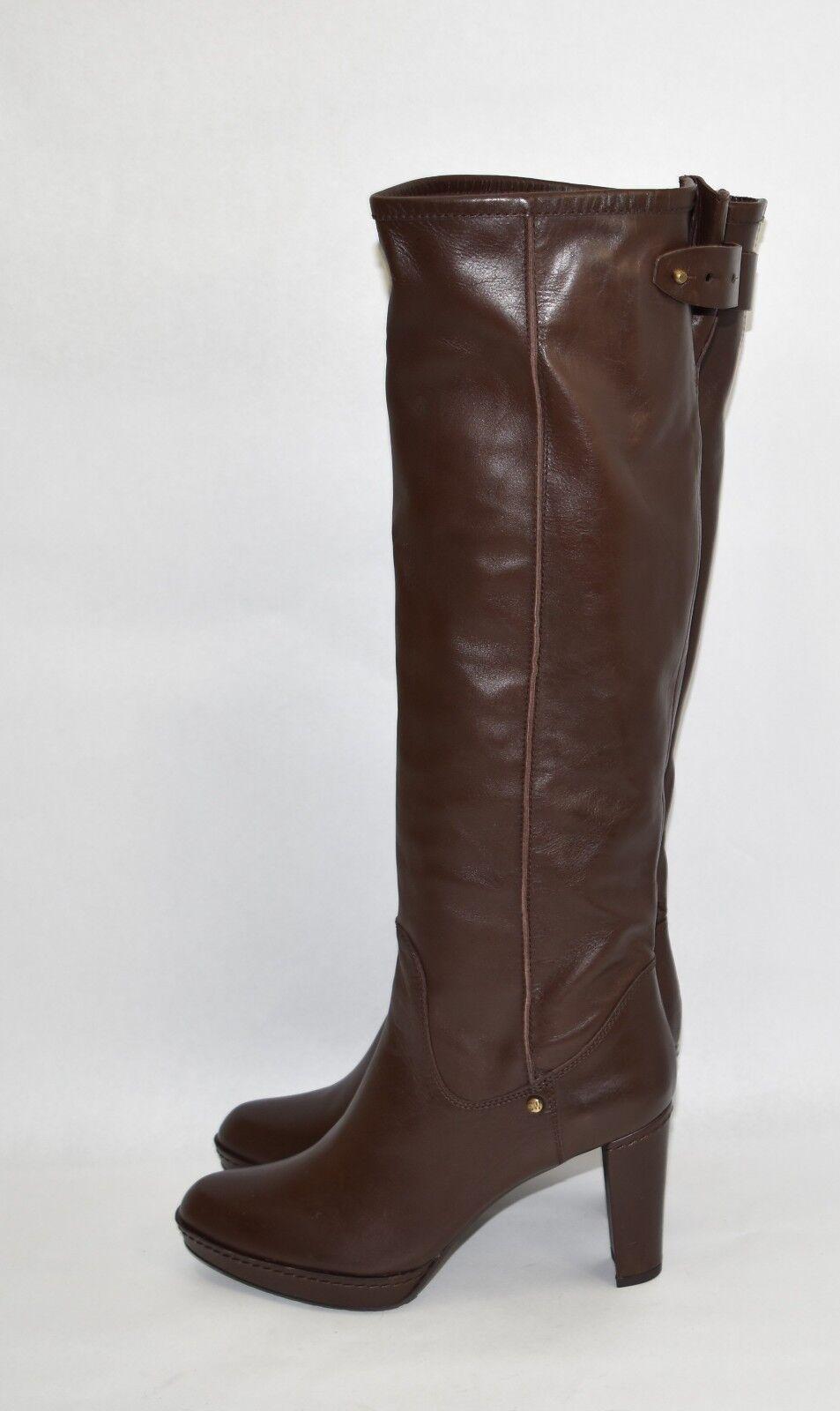 New Stuart Weitzman 'Gentry' Almond Toe Platform Brown Boot Size 10
