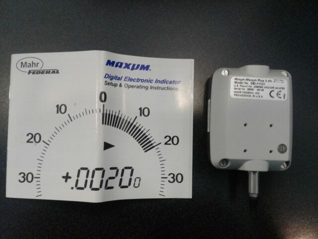 Maxum Digital Electronic Indicator 0001 mahr federal DEI-11121
