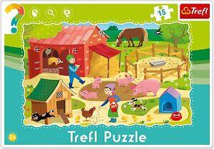 Trefl-15-Piezas-Ninos-Bebes-Unisex-INFANTE-Granja-Animales-MARCO