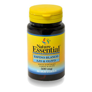 ESPINO BLANCO + AJO + OLIVO 500 mg. 50, 100, 150 o 250 Perlas - NATURE ESSENTIAL