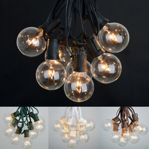 Details About 100 Ft Outdoor Globe Patio Fairy String Lights 75 Sockets 90 Clear Bulbs