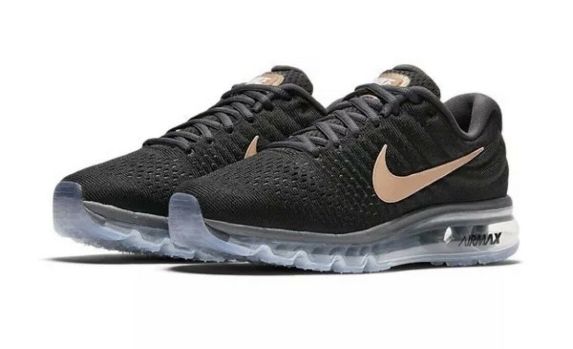 New  WMNS NIKE AIR MAX 2017 Size 8.5 849560 008 Black Bronze