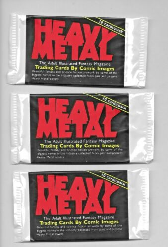 Heavy Metal Magazine 1991 Trading Card 3 Sealed Packs 10 Cards Each 1977 Series