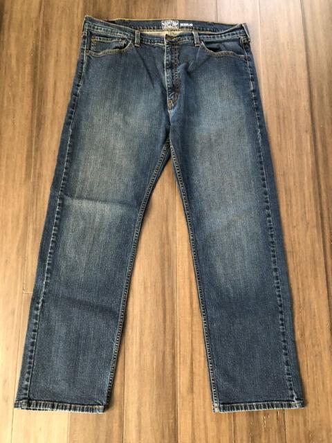 SIGNATURE by LEVI STRAUSS CO Men's Regular Denim Straight Blue Jeans-Size 38x32