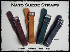 Cinturini Nato Pelle scamosciata 20mm.  Nato Suede Straps 20mm ENTRATE!