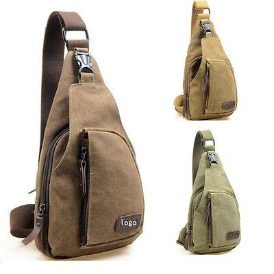 Men's Canvas Military Messenger Shoulder Travel Hiking Fanny Bag Backpack