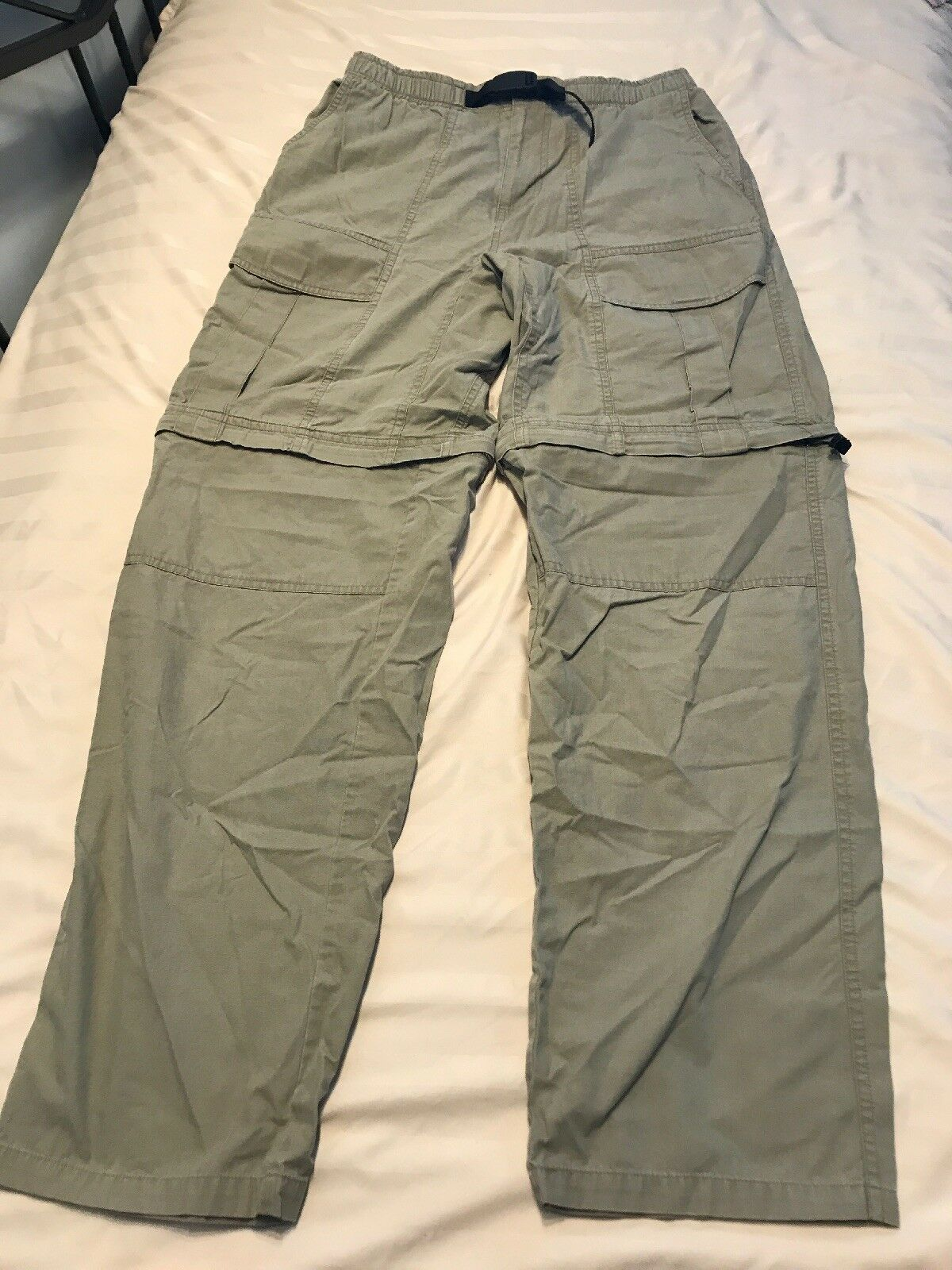 Oxide Mens Cargo Pants Shorts Light Olive Green Sz Small SC8