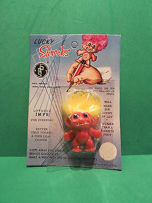 "NEW ON CARD Rare VINTAGE  LUCKY SHNOOKS PENCIL TOP MINT 1 1//4/"" GP"