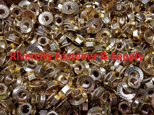 Wiz Nuts 1//2x13 100 1//2-13 Grade 8 Serrated LARGE Flange Hex Lock Nut Spin
