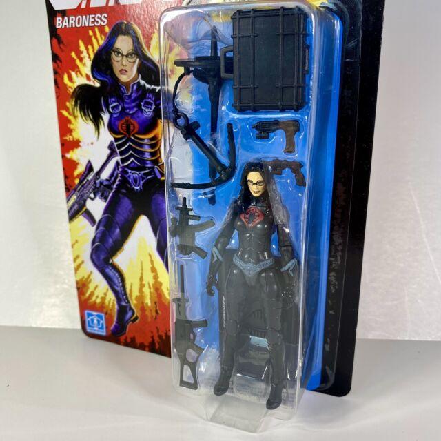 "GI Joe Retro 3.75"" Cobra Enemy Baroness Walmart Exclusive Action Figure New MOC"