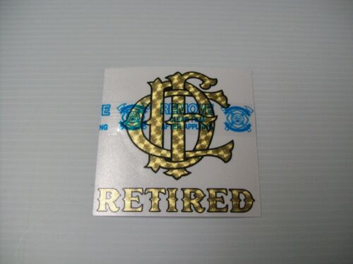 Chicago Fire Department Decal Letter Nest Retired Gold and Black 4/""