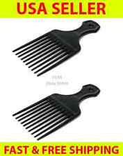 Two Black Plastic Afro Hair Lifting Pik Pick Detangler Annie Style Comb 5.25""