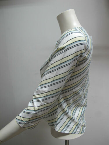 shirt 42 gial Manica Donna Tf3940 bianco Col nero Lacoste 3 4 T Tg Estate 2011 qv7xnn15