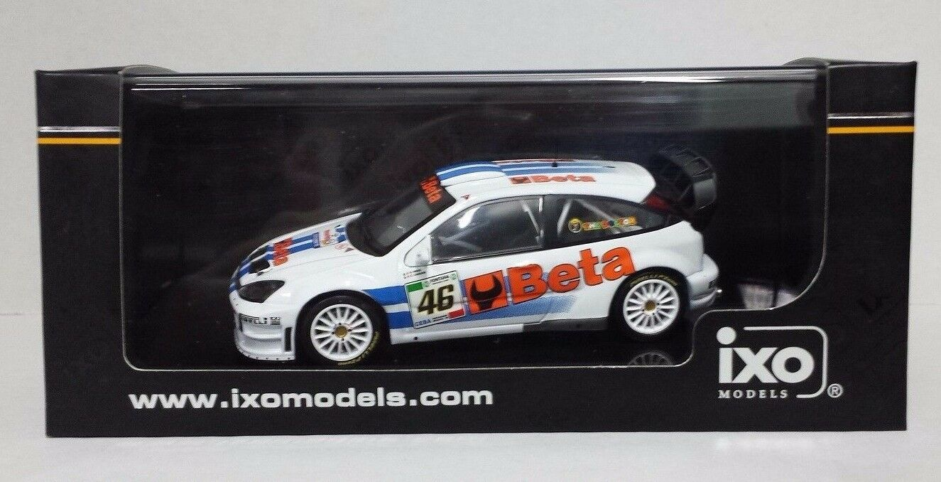 IXO 1/43 VALENTINO ROSSI AUTO FORD FOCUS WRC  BETA  RALLY MONZA 2007 L.E.NEW